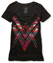 Empyre Girls Spear Heather Black V-Neck Tee Shirt