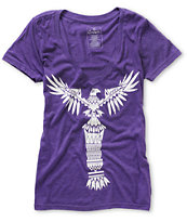 Empyre Girls Totem Heather Purple V-Neck Tee Shirt