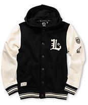 LRG Boys Bullworks Black Fleece Varsity Hoodie
