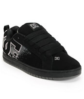 DC Court Graffik SE Black & Grey Splat Skate Shoe