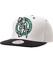 Mitchell And Ness Boston Celtics XL Logo 2tone White Snapback