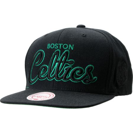 NBA Mitchell and Ness Boston Celtics Blacked Out Snapback Hat