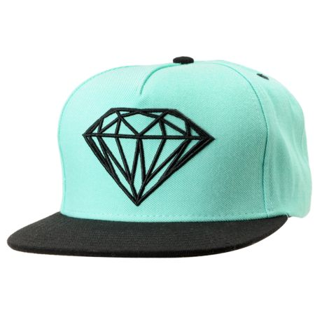 Diamond Supply Brilliant Mint & Black Snapback Hat