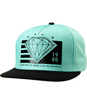 Diamond Supply World Class Mint & Black Snapback Hat