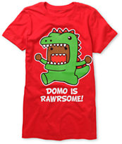 Domo Rawrsome Girls Red Tee Shirt
