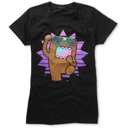 Domo Dance Girls Black Tee Shirt