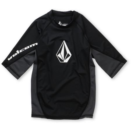 Volcom Boys Colorblock Black Rash Guard