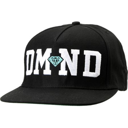 Diamond Supply DMND Black Snapback Hat