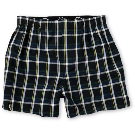 Empyre Night Watch Black Plaid Boxers