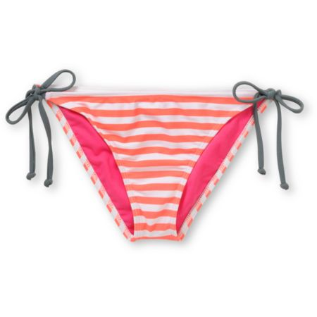 Hurley Line Drive Coral Stripe Side Tie Bikini Bottom