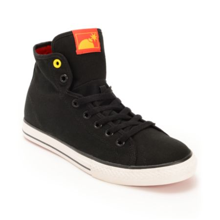 The Hundreds Valenzuela High Black Canvas Shoe