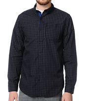 Dravus Check It Black Plaid Long Sleeve Woven Shirt