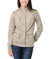 Angel Kiss Girls Khaki Lightweight Military Jacket