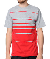The Hundreds Out Of Here Red & Grey Tee Shirt