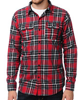 Dravus Log Boom Red Plaid Long Sleeve Woven Shirt