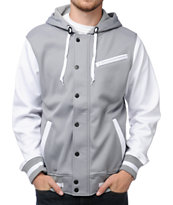 Aperture Upsetter Grey & White 10K Tech Fleece Jacket 2013