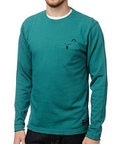 The Hundreds Thief Turquoise Long Sleeve Shirt
