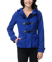 Empyre Girls Zenith Princess Blue Toggle Peacoat
