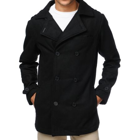 Empyre Mercer Black Wool Pea Coat