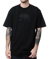 Nor Cal Black Bear Black Tee Shirt