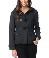 Empyre Girls Zenith Charcoal Grey Toggle Peacoat
