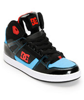 DC Boys Rebound Hi Black, Red, & Turquoise Skate Shoe