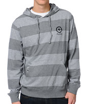LRG CC Heather Grey Stripe Hooded Shirt