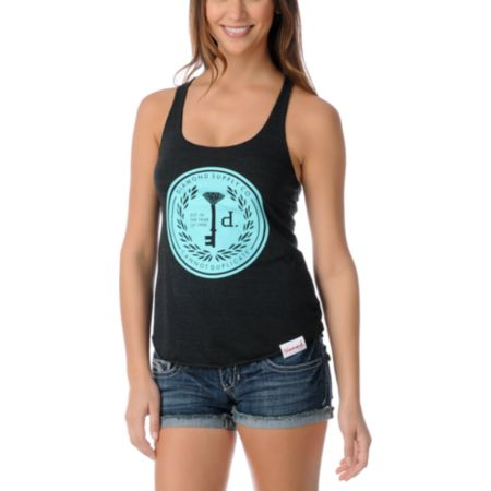 Diamond Supply Girls Cannot Duplicate Charcoal Tank Top