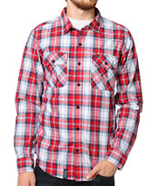 LRG Hows It Growing Red Woven Button Up Shirt