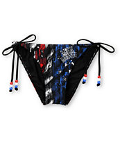 Metal Mulisha Eagle Dare Side Tie Bikini Bottom
