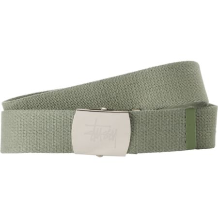 Stussy Tipped Stock Olive Green Web Belt
