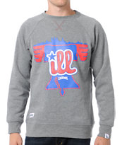 Local Legends Ill Heather Grey Crew Neck Sweatshirt