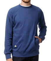 Dravus Edison Heather Blue Fleece Crew Neck Sweatshirt