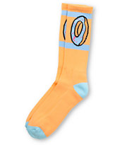 Odd Future Donut Peach Orange Crew Socks