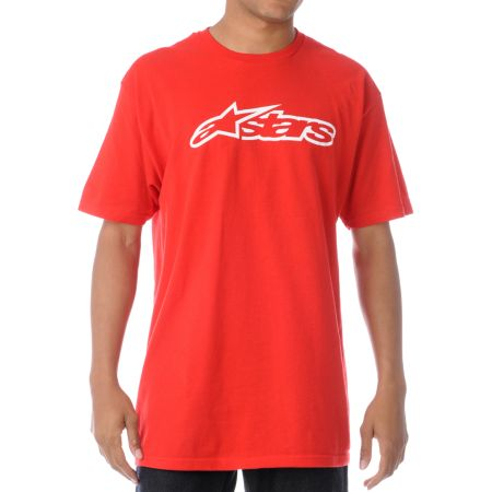 Alpinestars Blaze Red Tee Shirt