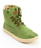 Toms Highland Botas Green and Leopard Print Girls Shoe