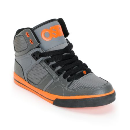 Osiris Kids NYC 83 Grey & Orange Skate Shoe