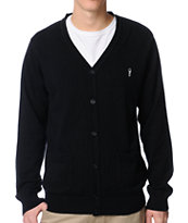 Obey Noble Black Cardigan Sweater