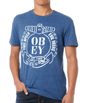 Obey Full Speed Navy Tri-Blend Tee Shirt