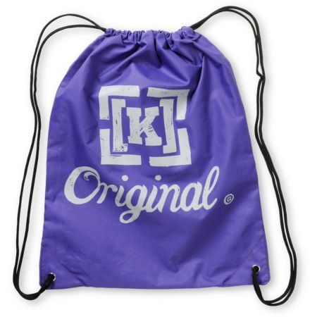 KR3W Original Purple Drawstring Bag