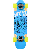ATM Hot Dog Blue 27 Complete Cruiser Skateboard