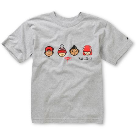 Trukfit Boys Ride With Us Heather Grey Tee Shirt