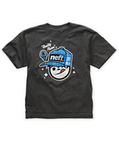 Neff Boys Quality Sucker Charcoal Grey Tee Shirt
