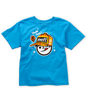 Neff Boys Quality Sucker Turquoise Tee Shirt