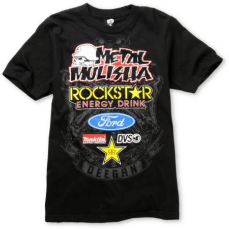 Metal Mulisha Boys Deegan Comp Black Tee Shirt