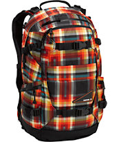 Burton Riders Pack Majestic Black Plaid Snowboard Backpack