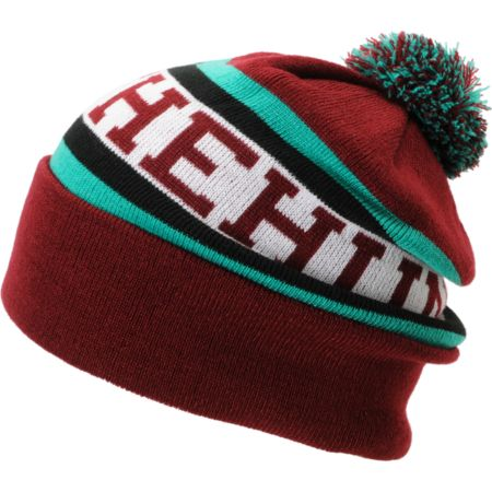 The Hundreds Division Maroon Pom Beanie