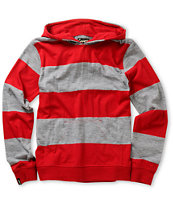 Empyre Boys Titan Red & Grey Long Sleeve Hooded Knit Shirt