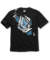 Volcom Boys Stone Sharded Black Tee Shirt