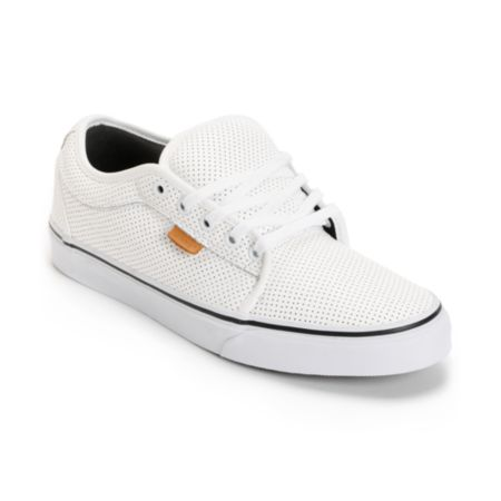 Vans Chukka White Peforated Leather Shoe